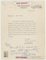 Groves memo about readiness of 3rd atomic bomb, August 10, 1945 - small image
