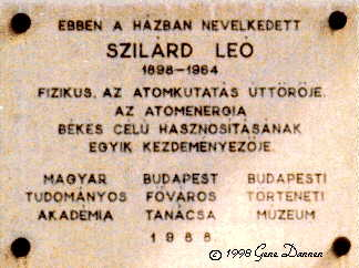 an analysis of moonshine leo szilards work in university of budapests minta